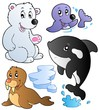 Wintertime animals collection 1