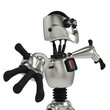 funny robot in give me a hug side view