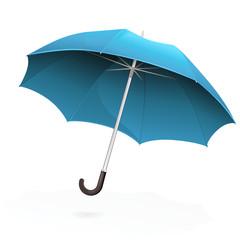 Parapluie bleu volant (reflet)