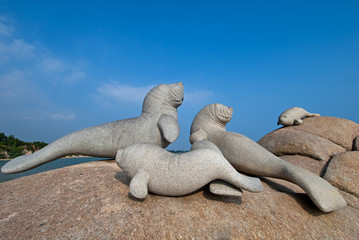 Seaside Statues