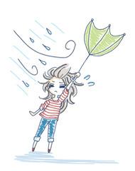 めくれる傘