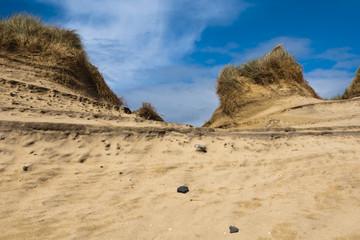 Landscape, Sand dunes, Wind sculped, Traigh Mhor beach