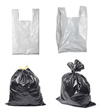 white plastic bag trash garbage