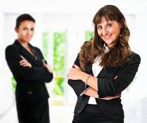 Smiling businesswomen. Team work