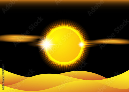 canvas print picture Abstract Sunset over Desert