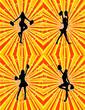 Set of Four Cheerleader Backgrounds! Vector / Clip Art / Eps 8