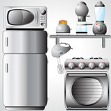 Beautiful Kitchen Appliances Illustration poster