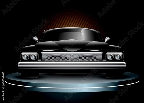 Leinwanddruck Bild Luxury Car Illustration