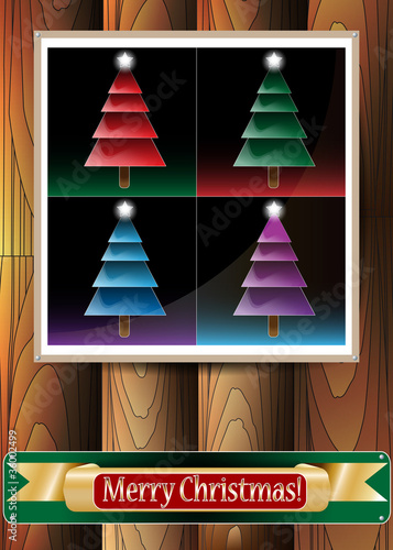 canvas print picture Beautiful Christmas Illustration