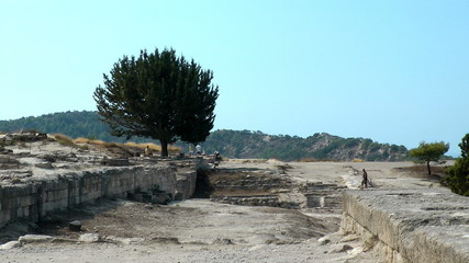 Ancient ruins of Kamiros town. Rhodes island. Greece.