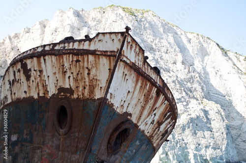 Famous shipwreck at Navagio beach - Zakynthos Greece