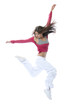 new modern slim hip-hop style woman dancer jumping