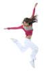 new modern slim hip-hop style woman dancer jumping