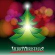 Leinwandbild Motiv Beautiful Christmas Tree Illustration