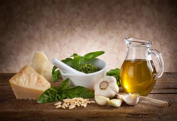 Ingredienti del pesto ligure