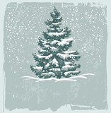 Fototapety Vintage Christmas card