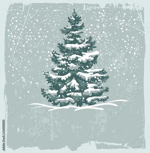 Fototapeta Vintage Christmas card