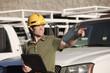 Contractor at jobsite