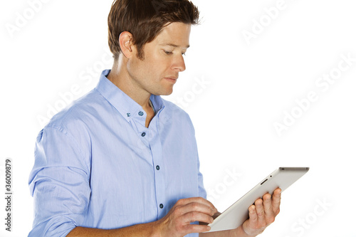 man touchpad
