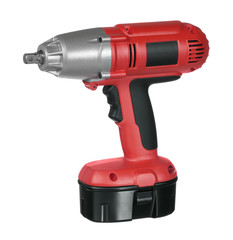 red and black cordless screwdriver