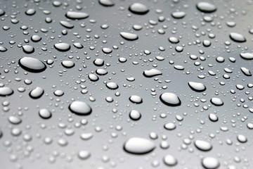 Wassertropfen grau