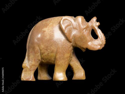 soapstone elephant sideways