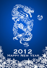 2012 Chinese Year of the Dragon Snowflakes