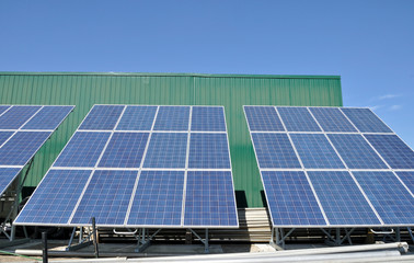 Solar Panels on farm building