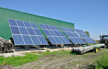 Solar Panels in rural setting