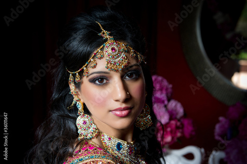 Leinwanddruck Bild Gorgeous Indian Bride