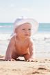 playing beach baby