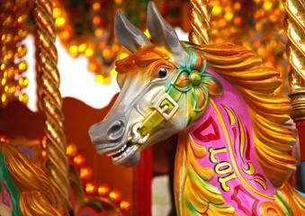 A Traditional Horse on a Fun Fair Carousel Ride.