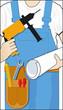 Handwerker mit Wekzeug