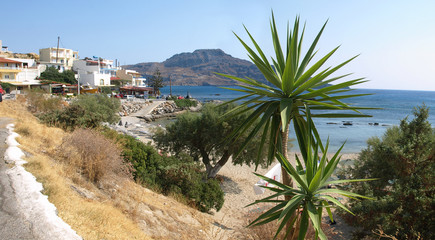 Plakias tourist resort - southern Crete.