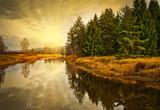 Fototapete Herbst - Fluß - Bach / Fluss