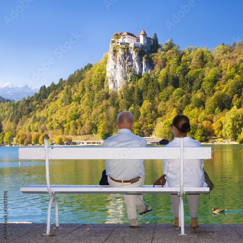 Seniour couple in Bled, Slovenia