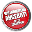 Willkommensangebot! Button, Icon