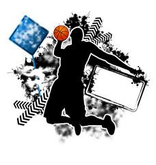 Basketball grunge template vector