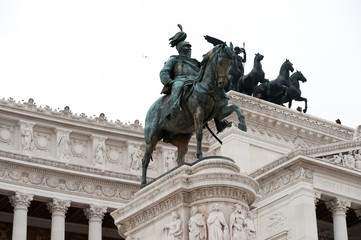 Equestrian monument to Victor Emmanuel II Rome, Italy
