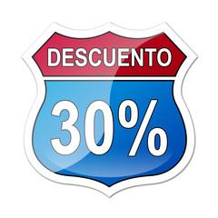 Señal carretera americana con descuento 30%