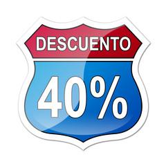 Señal carretera americana con descuento 40%