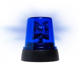 blue rotating beacon