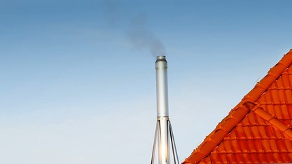 Smoking metal chimney