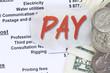 Pay a balance sheet