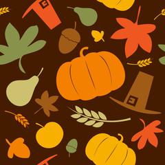 Autumn seamless background, Thanksgiving day