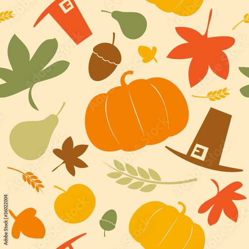Autumn seamless background, Thanksgiving day