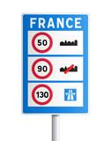 Panneau - indication aux frontières