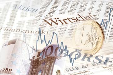 Finanzmarkt Collage