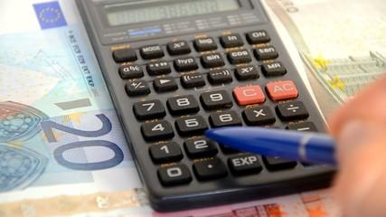 Taschenrechner Geld Lang