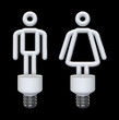 Male and female energy bulbs
